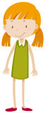 Little girl with pigtail. Illustration Stock Photography