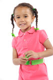 Little Girl with Pigtails Royalty Free Stock Photo