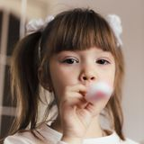 Little girl with pigtails Royalty Free Stock Images