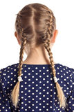 Little girl with pigtails Stock Photos
