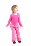 Little girl in pink Royalty Free Stock Image