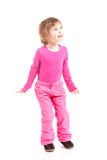 Little girl in pink Stock Photos
