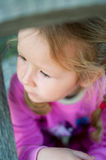 Little girl in the pink Stock Photo