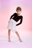 Little girl on pink background Royalty Free Stock Photo