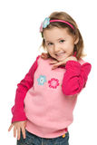 Little girl in a pink blouse Royalty Free Stock Photography