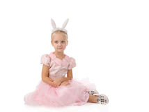 Little girl in a pink dress Royalty Free Stock Photography