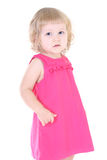 Little girl in pink dress Stock Photos