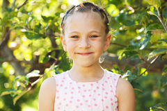 Little girl in a pink dress Royalty Free Stock Images
