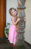 Little Girl in Pink Dress Stock Photo