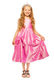 Little girl in pink dress with princess crown Royalty Free Stock Photography
