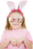 The little girl with pink ears Royalty Free Stock Photography