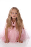 Little girl in a pink elegant dress. Stock Images