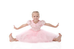 Little girl in a pink elegant dress. Stock Photography