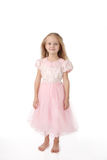 Little girl in a pink elegant dress Royalty Free Stock Image
