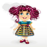 Little girl with pink hair-EPS10. Little girl with pink hair Stock Photos