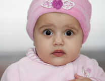 Little girl in a pink hat Royalty Free Stock Photography