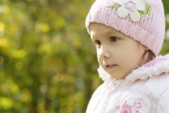 Little girl in pink hat Royalty Free Stock Image