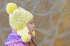 Little girl in pink jacket Royalty Free Stock Photography
