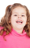 Little girl in pink laughing out loud Stock Photography