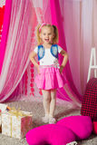 Little girl in a  pink skirt Royalty Free Stock Photo