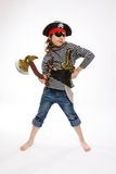 Little girl in pirate's costume Royalty Free Stock Photo