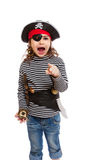 Little girl in pirate's costume Royalty Free Stock Photography