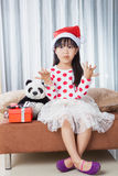 Little Girl With a Plate of Cookies for Santa Royalty Free Stock Photography