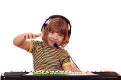 Little girl play keyboard Royalty Free Stock Photo