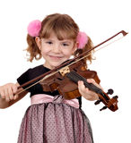 Little girl play music on violin Royalty Free Stock Photos
