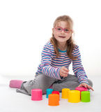 Little girl an play Royalty Free Stock Photography