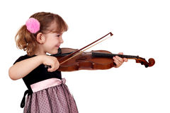 Little girl play violin Stock Photography