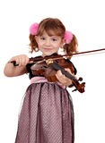 Little girl play violin portrait Stock Image