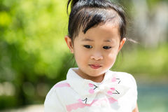 Little girl played Stock Image