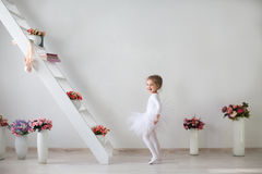 Little girl in a playful mood. Stock Photos