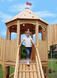 Little girl on playground Royalty Free Stock Photo