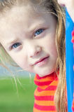 Little girl on the playground Royalty Free Stock Photos