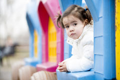 Little girl at playground Royalty Free Stock Photos