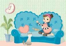 Little girl playing Stock Image