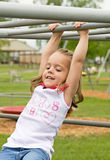 Little Girl Playing. Outside With Big Smile Stock Photo