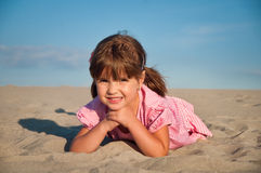 Little girl playing Stock Photography