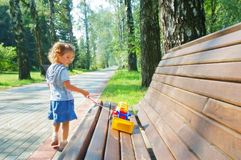Little girl playing Royalty Free Stock Images