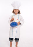 Little girl playing chef Royalty Free Stock Image