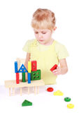 Little girl playing with cubes Stock Image