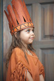 Little girl playing Indian. Little girl dressed as  Indian Royalty Free Stock Photos