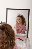 Little girl playing make-up and fairy princess Stock Image
