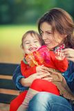 Mother and daughter in the park Stock Image