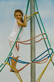 Little girl playing outdoor Royalty Free Stock Photography