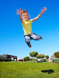 Little girl playing in park. Royalty Free Stock Photo