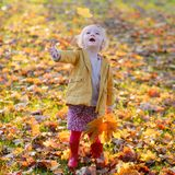 Little girl playing in the park Royalty Free Stock Photos
