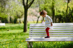 Little girl playing in the park Royalty Free Stock Photography